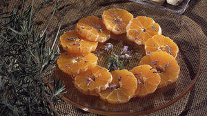 Mandarins With Lavender and Honey