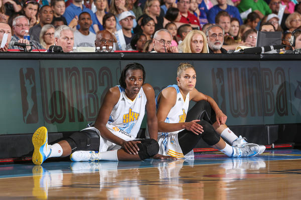 The Sky's Sylvia Fowles (left) and Elena Delle Donne are two big reasons why the Sky finished atop the WNBA Eastern Conference in 2013.