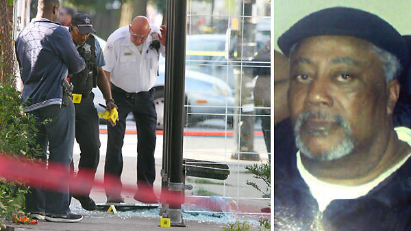 Billy Sargent, 67, right, of the 6000 block of South Vernon Avenue in the Woodlawn neighborhood of Chicago, went into full cardiac arrest after being shot in the chest, buttocks and side, according to Chicago Police Department News Affairs Officer John Mirabelli. Sargent was standing in a CTA bus stop when he was shot.