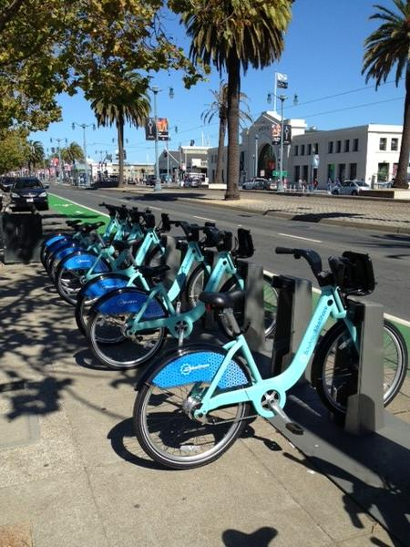 These bikes are part of Bay Area Bike Share, which launched late last month with 700 bikes in five cities, making it one of the smallest such pilots in the country.