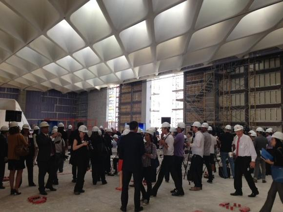 Media hard hat tour of the Broad museum, which opens in late 2014.