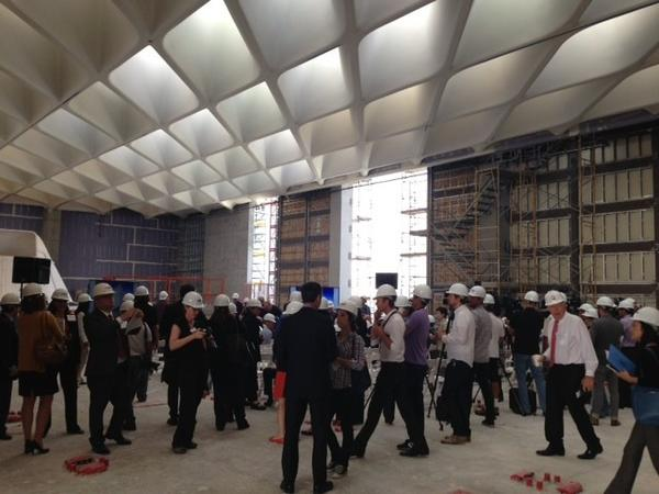 Tuesday's media hard-hat tour of the Broad museum, which opens in late 2014.