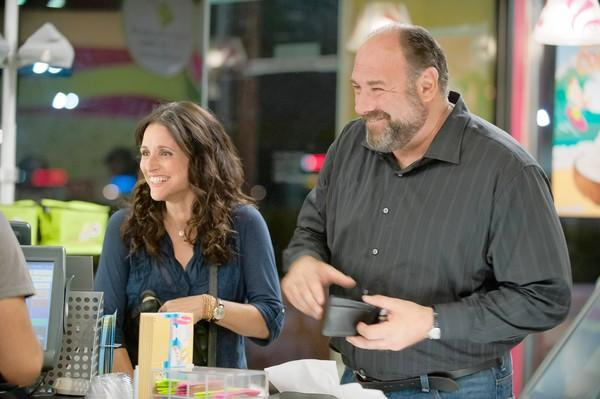 "James Gandolfini and Julia Louis-Dreyfus star in ""Enough Said."""