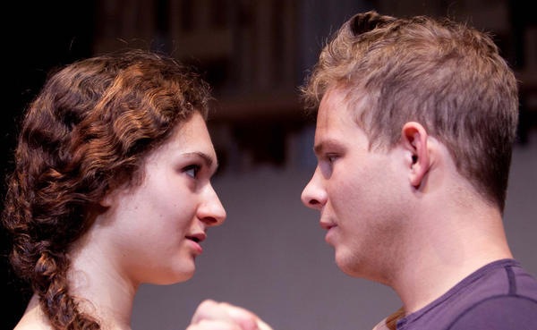 "Anna Theoni DiGiovanni and Jonathan Lipnicki in Rogue Machine's production of ""Lost Girls."""