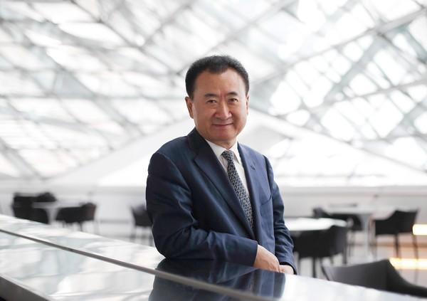 Billionaire Wang Jianlin is chairman and president of Dalian Wanda Group.