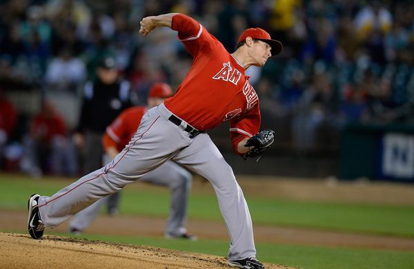 Angels starter Garrett Richards had one of the best games of his young career in the team's 2-1 loss to the Oakland Athletics on Tuesday.