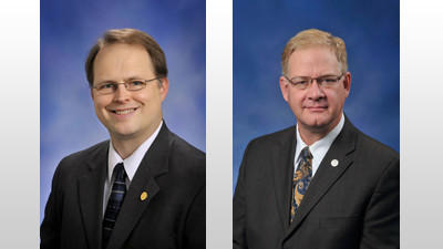 State representatives Tom McMillin, R-Rochester Hills (left), and Greg MacMaster, R-Kewadin, are co-sponsoring legislation that would prohibit the state from adopting a new set of science standards for kindergarten-12th grade, called Next Generation Science Standards.