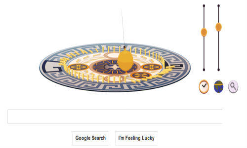 Google changed its doodle to honor Leon Foucault, inventor of the famed pendulum that demonstrated Earth's rotation.