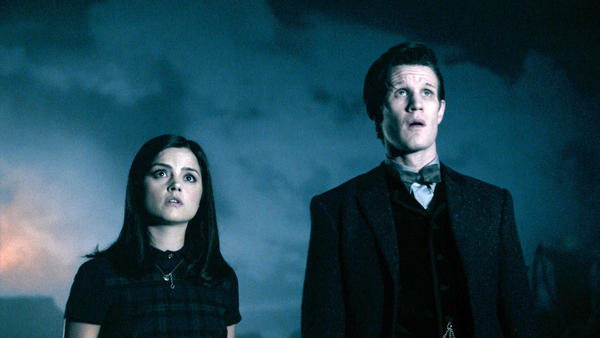 "Clara (Jenna-Louise Coleman) and the Doctor (Matt Smith) in the season finale of ""Doctor Who."""