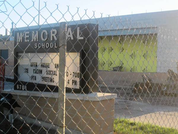 Community Consolidated School District 146 plans to spend $1.8 million dollars this year on construction at Memorial School, pictured above.