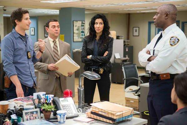 "Andre Braugher, right, plays openly gay police captain Ray Holt in Fox's new cop comedy ""Brooklyn Nine-Nine."""