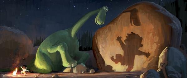 "A scene from the Pixar movie ""The Good Dinosaur"""