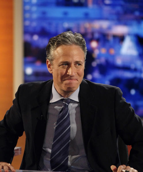"Host Jon Stewart of Comedy Central's ""The Daily Show with Jon Stewart"" during a taping ""The Daily Show with Jon Stewart: Restoring Honor & Dignity to the White House"""