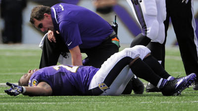 Ravens RB Ray Rice, DL Chris Canty not practicing Wednesday