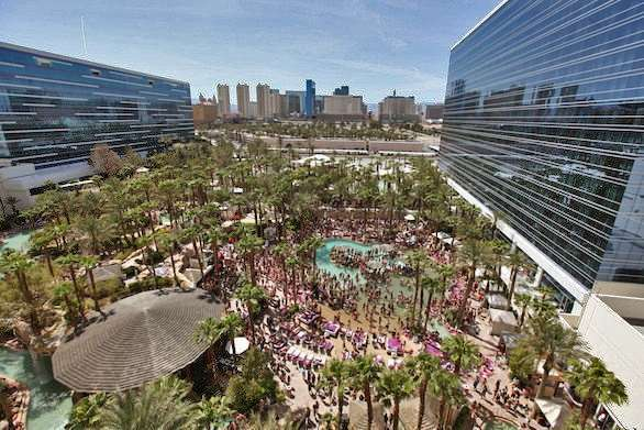 Paradise Beach at the Hard Rock in Las Vegas is a big draw for guests.