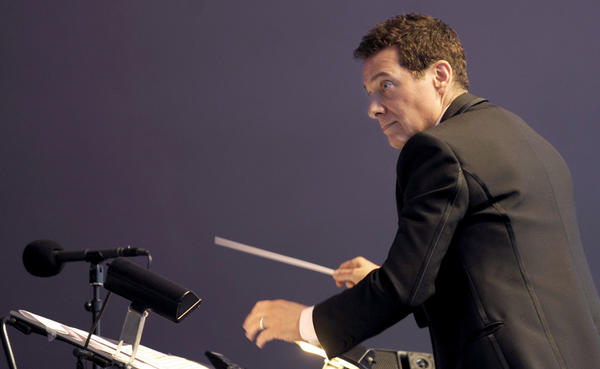 Michael Feinstein during his debut performance as conductor of the Pasadena POPS at the Los Angeles County Arboretum during the Pasadena POPS 2013 Summer Concert Series on Saturday, June 1, 2013 in Arcadia, Calif.