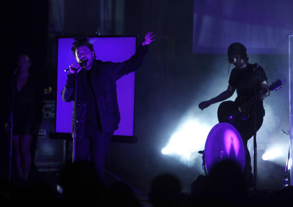 The Weeknd performs to a sold-out crowd at L.A.'s Orpheum Theater in December.