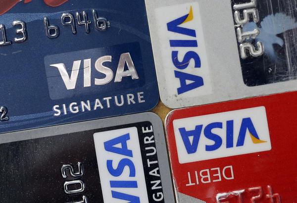 A variety of Visa cards.