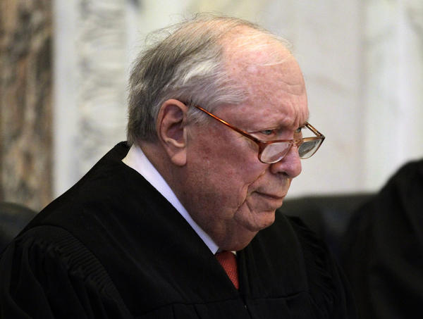 Judge Stephen R. Reinhardt, shown in 2010, is one of three judges from the U.S. 9th Circuit Court of Appeals hearing arguments on whether potential jurors may be excluded on the basis of sexual orientation in federal cases.