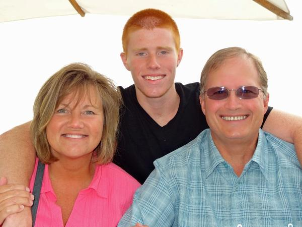 Bryce Laspisa, with his parents, Karen and Michael. Bryce Laspisa, has been missing since Aug. 30.