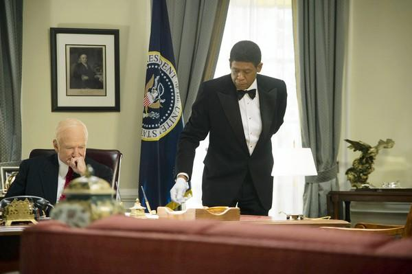 "Robin Williams, left, and Forest Whitaker star in ""The Butler."""