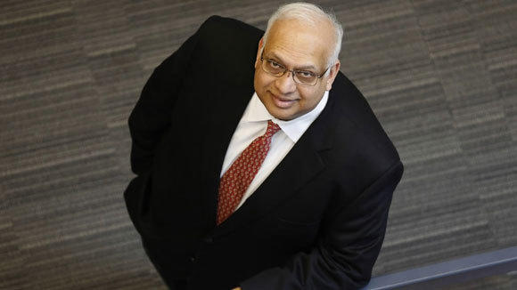 OfficeMax CEO Ravi Saligram is photographed in the company's Naperville headquarters in March.