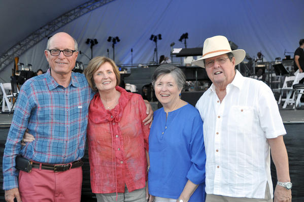 Attending the recent Pasadena Pops concert were, from left, Bob and Wynn DeVelle and Janet and Frank McNiff.
