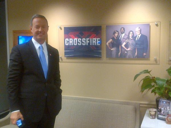 Governor Martin O'Malley in the Washington bureau of CNN.