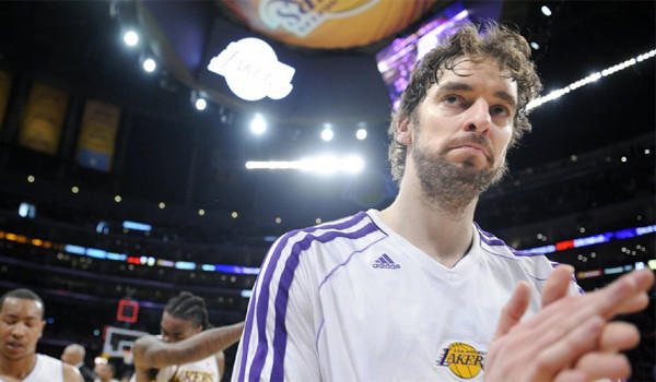 Veteran big man Pau Gasol has the ability to play at the forward position for the Lakers this season but might end up starting at center.