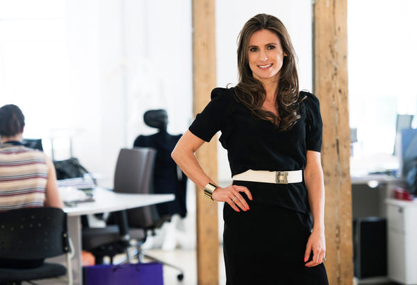 Cecile Reinaud, designer and owner of Seraphine, whose maternity clothes were favored by the Duchess of Cambridge.