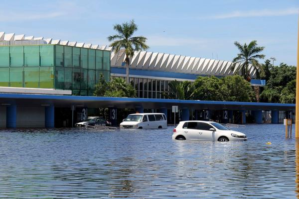 Flooding in Mexico - Acapulco international airport