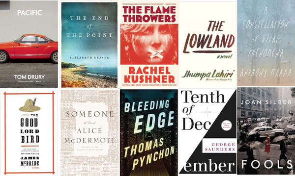The 10 books on the longlist for the 2013 National Book Award for fiction.
