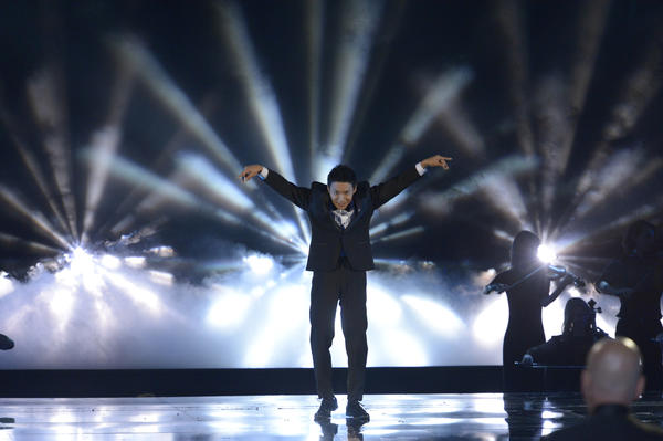 "Winner Kenichi Ebina performs on ""America's Got Talent."""