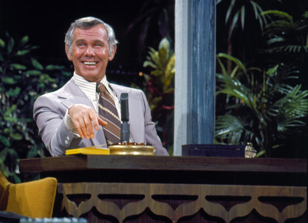 "Johnny Carson on ""The Tonight Show,"" taken sometime in the 1980s."