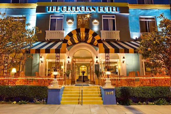 The Georgian Hotel, which opened in 1933, hosted a popular speakeasy during Prohibition, one that still exists today.