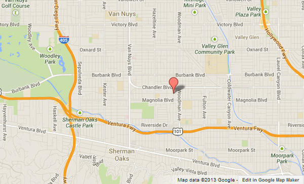 Approximate location, shown in red, where a man who may have been hit by a car was found.
