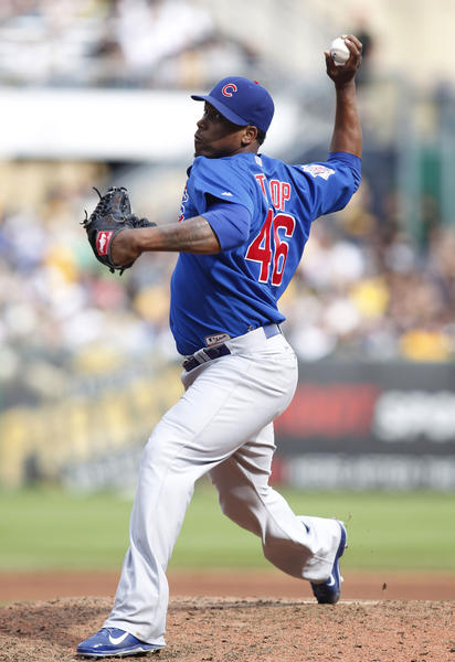Chicago Cubs relief pitcher Pedro Strop.