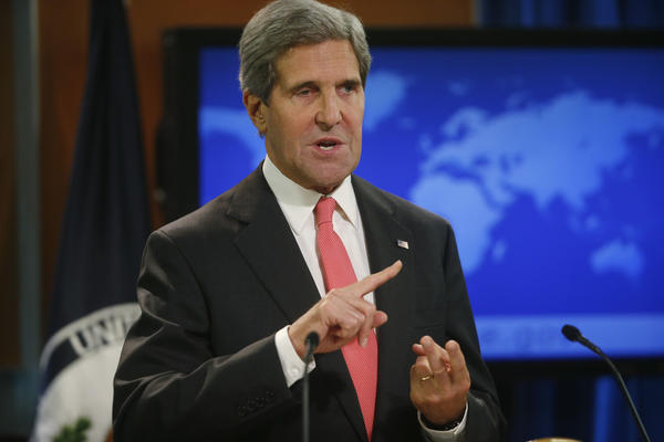 Secretary of State John F. Kerry talks about Syria and chemical weapons at the State Department in Washington.