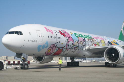 "The Hand-in-Hand Hello Kitty Jet is <a href=""http://www.evaair.com/en-us/index.html"" target=""_blank"">EVA</a>'s first Hello Kitty-themed Boeing 777-300ER long-range airplane."