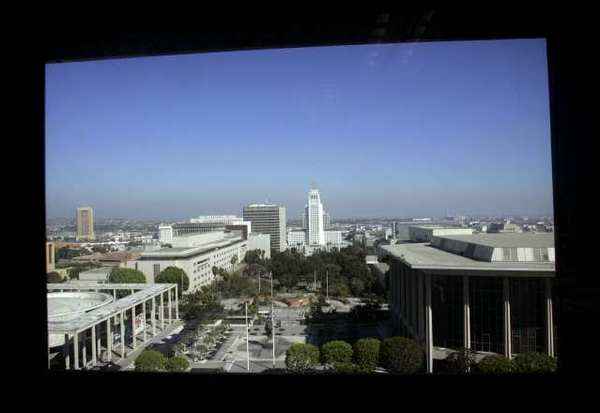 "A view of the Music Center, performing arts hub of downtown Los Angeles. The latest ""National Arts Index"" report says the decline of the arts continued but was leveling out in 2011."