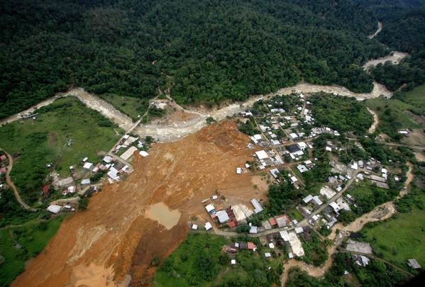 Flooding in Mexico - La Pintada landslide