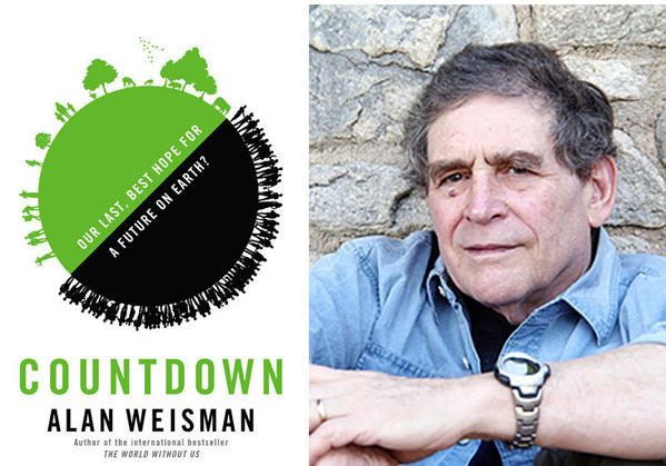 "The cover of the book, ""Countdown"" and author Alan Weisman."