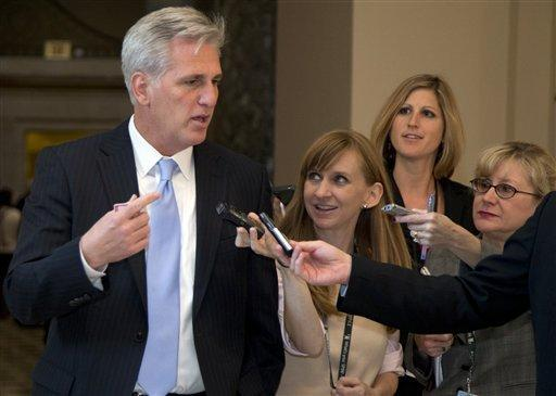 House Majority Whip Kevin McCarthy (R-Bakersfield) heads for the House floor before the food stamp vote.