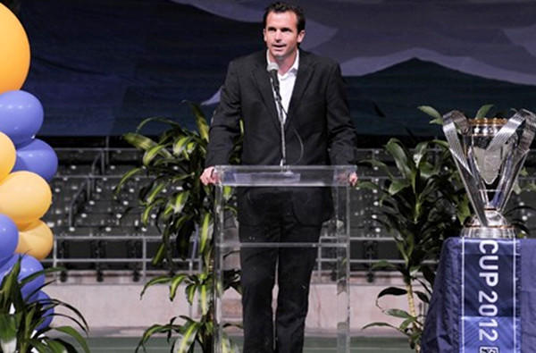 Former MLS star Chris Klein became president of the Galaxy in January.