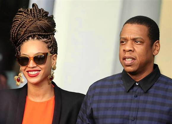File of U.S. singer Beyonce and her husband rapper Jay Z