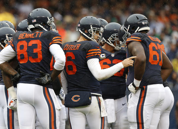 Bears quarterback Jay Cutler during the game against the Vikings.