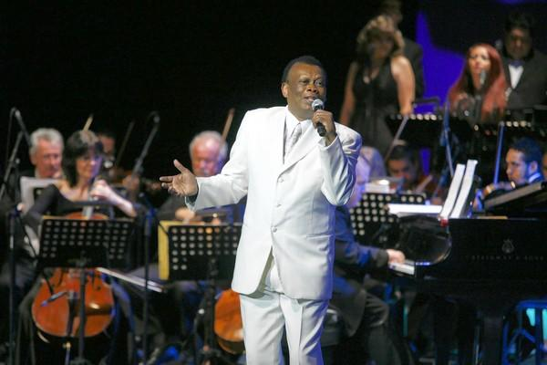 Johnny Laboriel performs during a concert in Mexico City.
