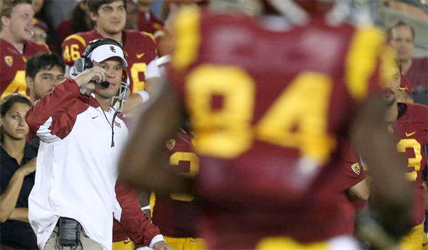 USC Coach Lane Kiffin says the Trojans haven't abandoned their unique extra-point formations, after all, they're only three games into the season, they could still make an appearance.