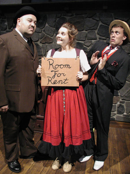 "Jeff Nathan (from left), Olivia Grace Murphy and Jesse Hinton star in ""The Underpants."""