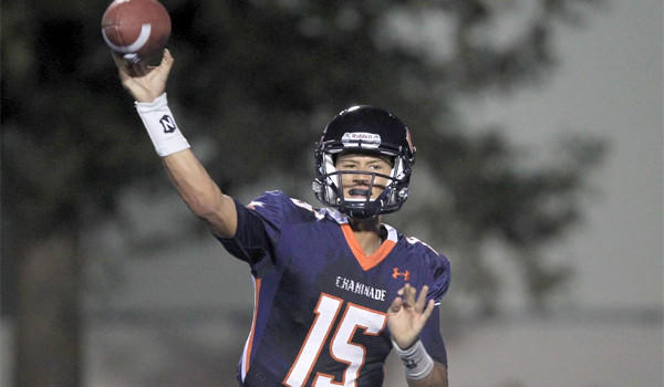 West Hills Chaminade quarterback Brad Kaaya connected with his receivers on 16 of 26 passes for 183 yards during a 21-14 victory over Westlake Village Oaks Christian on Thursday.